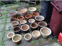20 different size garden pots