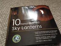 10 sky laterns