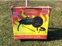 Gardeco Lucio portable fire bowl and BBQ combined