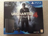 Sony PlayStation 4 Unchartered 4 + FIFA 17 Brand New
