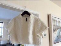 Faux Fur Ivory bolero jackets, medium