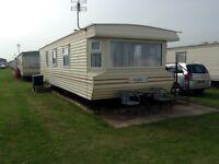6 birth caravan next to beach in chapel st leonards