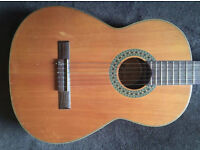 Vintage Classical Spanish Guitar, Made in Spain comes with soft case