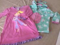 Girls Cow Onesie and Avon Nightie Age 5 - 6