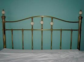 Marks & Spencer's 'Brass & Ivory' king size bed head (M&S Headboard) (ref C)