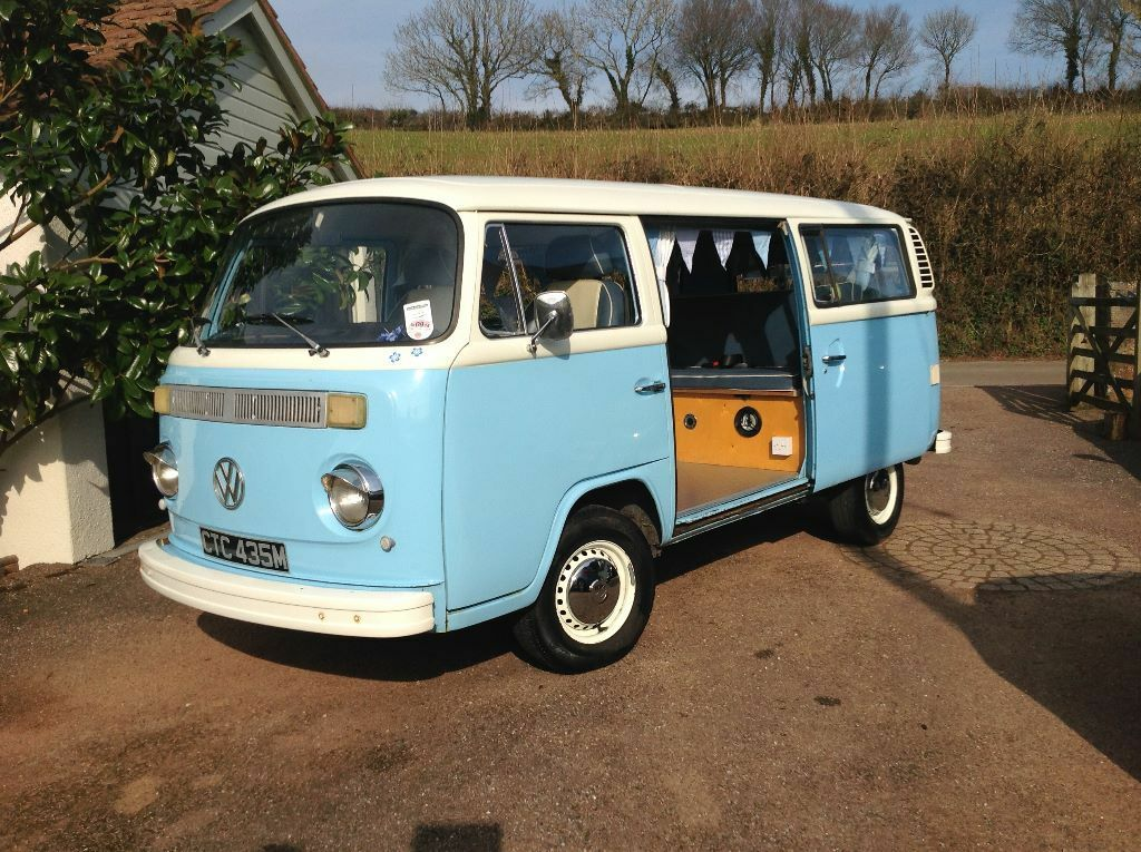 vw camper van for sale t2 bay 1974 excellent conditions fully serviced and full years mot in. Black Bedroom Furniture Sets. Home Design Ideas