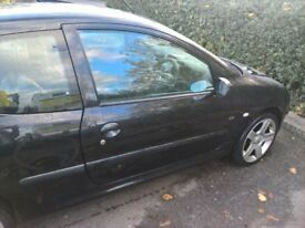 Peugeot 206 fever 1.1 , 17 inch alloys, kenwood ipod stereo, k n n filter, 2 door, black