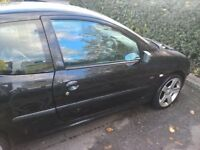 Peugeot 206 fever 1.1 , 17 inch alloys, kenwood ipod stereo, k n n filter, 2 door, black