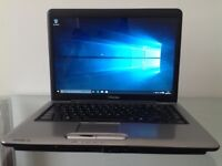 Toshiba Satellite 15.4-inch Laptop, windows 10, 2 GB RAM, 200 GB HDD, DVD DRIVE, WEBCAM and MORE