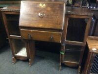Vintage writing bureau with side storage