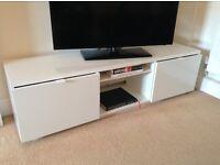 TV Stand - White High- Gloss