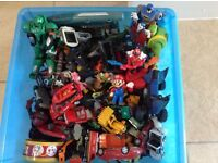 Huge collection of toy cars and action figures