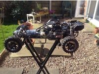 31.5 cc 2 stroke petrol baja rc car, not nitro, 1/5 scale with upgrades spares and extras