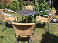 Garden table 4 chairs table needs attention collection north and weald £20 ,