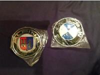 Brand new alipina and used. BMW car badges