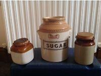 Stoneware kitchen jars