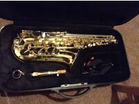 Stagg 77SA Alto Saxophone. Like new in hard case.