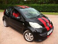 2007 PEUGEOT 107 BLACK 998CC **£20 PER YEAR ROADTAX**UPTO 60 MPG**FULL MOT**NO ADVISORIES**