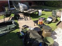 #OPEN TO OFFERS# Carp set up gear Daiwa basia 45 qd free spirit Es delkim txi plus sonik trakker fox