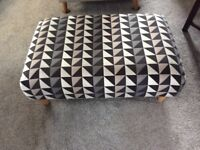 Large foot stool,as new lovely condition size 36ins long. 23 ins wide15 ins high .