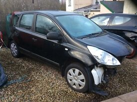 Nissan note 2010 parts available