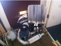 Everything you need for an indoor grow room. UNUSED. Light, extractor, all leads, filter plus more.