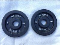 4 x 3lb (1.3kg) Weider v2 Standard Cast Iron Weights