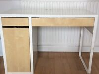 Computer desk with two drawers and cupboard. Good condition