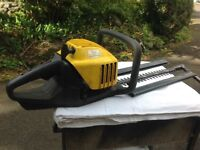 McCULLOCH HEDGE TRIMMER (2 stroke petrol) easy to start, run and cuts well