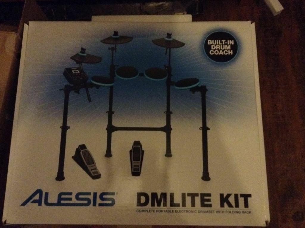 drum kit electric alesis dm lite kit second hand for sale rockburn 15b amp included in east. Black Bedroom Furniture Sets. Home Design Ideas