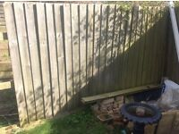 Wood panel fence FREE