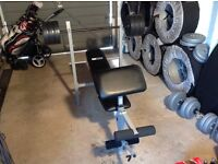 Weight Bench Dumbells and Weights
