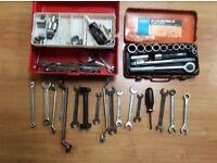 Draper 15 piece socket set and spanners