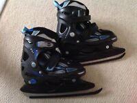 Kids Size Adjustable Ice Skates: UK 12 to 3 (EUR 32-35).