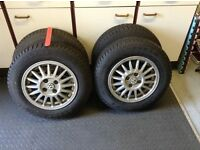 Alloy wheels and winter tyres.