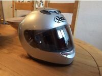 "Shoei ""RaidII"" Silver Metallic Motorcycle Helmet, Medium"