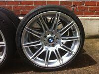 "***!! Over £300 off. 19"" GENUINE BMW MV4 ALLOY WHEELS & TYRES ***!!"