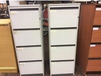ONE Four Drawer Grey Wood Filing Cabinet