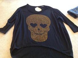 Ladies skull top