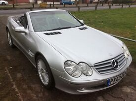 MERCEDES 350SL CONVERTIBLE 2004 MODEL SILVER GREY LEATHER