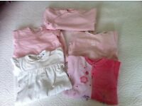 Baby girl sleepwear bundle 1-6 mmths (Petit Bateau Ralph Lauren Jacadi Sucre d'Orge Absorba) 5 items