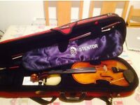 Stentor 11 3/4 size violin, carry case, bow and rosin