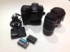 Canon 50d with 2 lenses