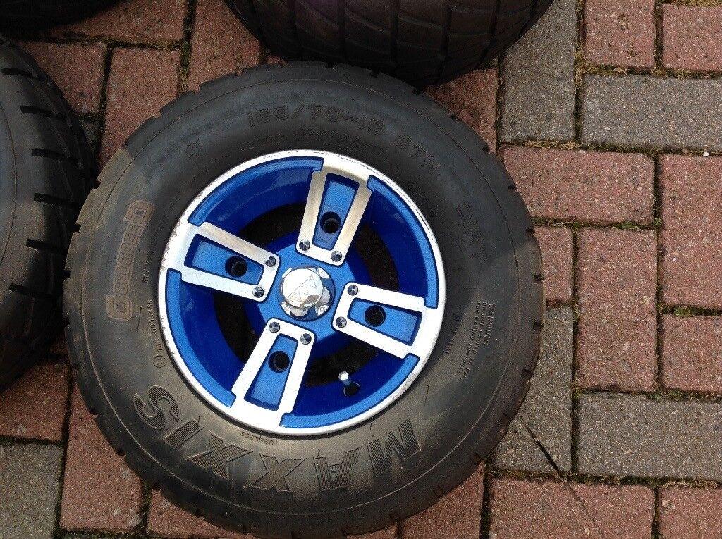 Yamaha Raptor / Banshee wheels with road tyres