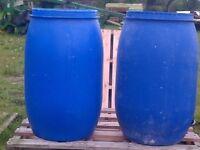 Clean 110 litre plastic water butt drum barrel