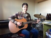 Friendly guitar & piano tutor available