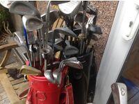 Job lot of golf equipment