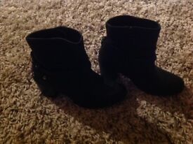 Black leather boots size 5. Marks and Spencer's limited collection