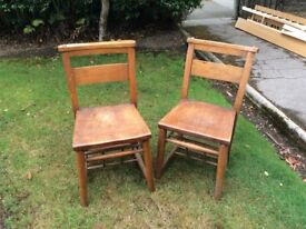 Various oak dining chairs