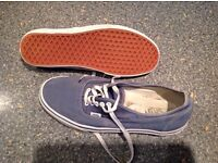 VANS size 11. Worn but loads of life left. Great for hols/ uni etc. Washed and ready to go.